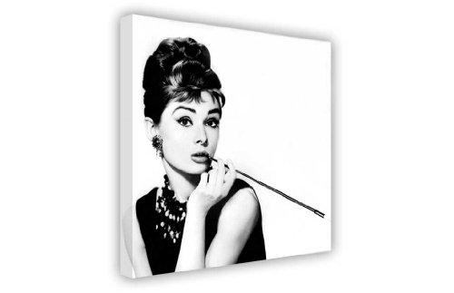 Canvas it Up Druck auf Leinwand, Motiv Audrey Hepburn mit Zigarette, New Age / Pop Art, tolle Deko, groß, Schwarz / Weiß 8- A1 - 24
