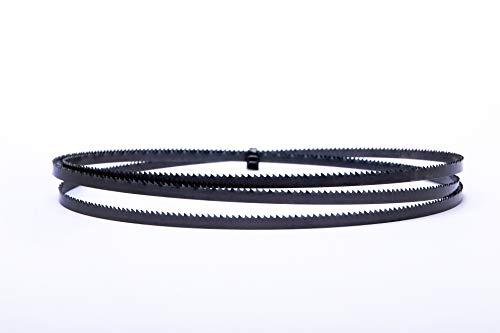Encut Hoja de sierra de cinta de alto rendimiento, 1400 x 6 x 0,65 mm, 14 dientes ZpZ, cinta de sierra de acero para Einhell,Atika, etc. Adecuado para madera, contrachapado, aluminio, plástico, etc.