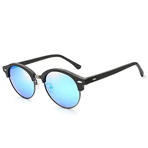 ShSnnwrl Único Gafas de Sol Sunglasses Gafas De Sol Polarizadas para Hombre, Conducción TAC, De Grano De Mad