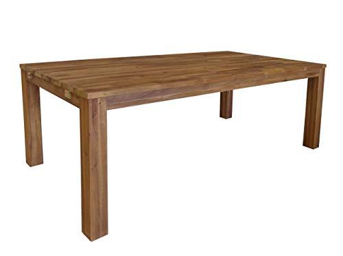 QUICK STAR Gartentisch Akazie Holztisch 200x100 cm Natur Tisch Gartenmöbel