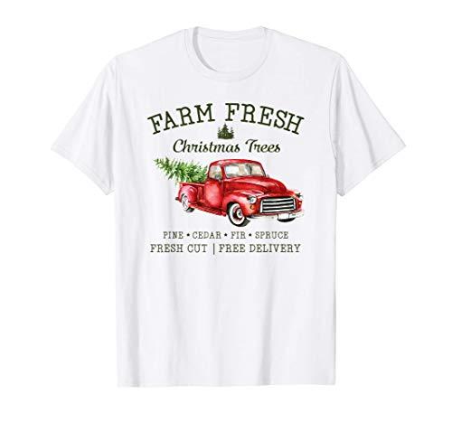 Farm Fresh Christmas Trees Fresh Cut Xmas Tee Festive T-Shirt