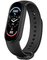 M6 Intelligent Watch Fitness Horloge Hart Rate Sleep Smartwatch 2,4 cm kleurendisplay IP67 waterdicht sportarmband