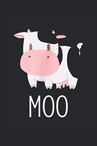 MOO: Kühe Muhviehstar, Kuhl Notizbuch. Ein Taschenbuch A5 mit 108 karierten Seiten. Ein Motiv für Landwirte, Landwirtin, Bauern, Bäuerin und Kuhfans.