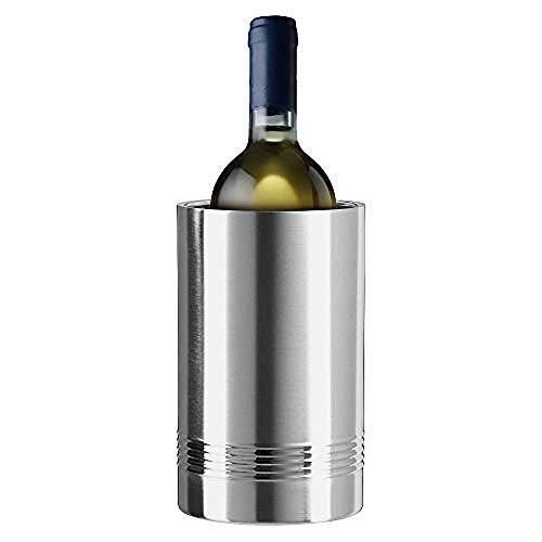 4you Design Flaschenkühler von Emsa zur Hochzeit - personalisiert mit Gravur - doppelwandiger Edelstahl - Geschenkidee zur Hochzeit