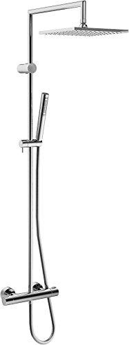 Hansa Brause-Thermostat HANSAPRISMA 58099113 mit Duschsystem, Brauseschlauch 1,75m verchromt