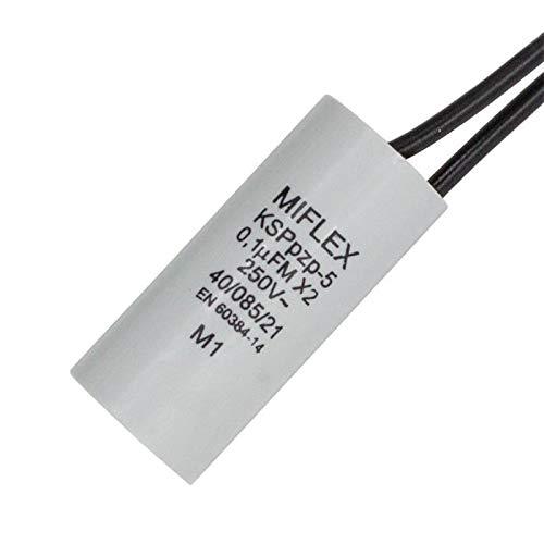 Entstörkondensator 0,1µF 250V X2 Miflex KSPpzp-5 Funktentstörkondensator ; 0,1uF
