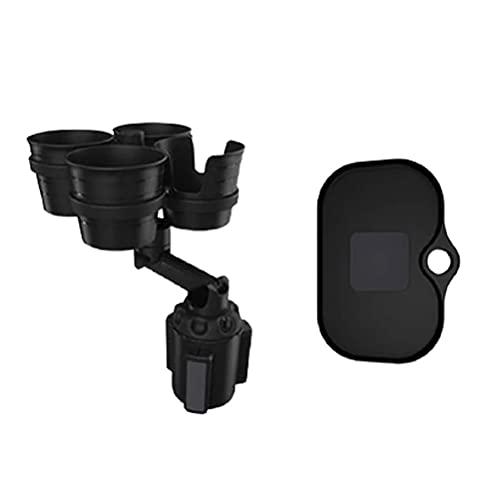 Gazaar Universal Car Cup Holder Expander Adapter,4 en 1 Multifuncional montado en vehículo botella de agua telescópica bebidas contenedor,360 ° giratorio ajustable Botellas Base Organizador,Ordinario