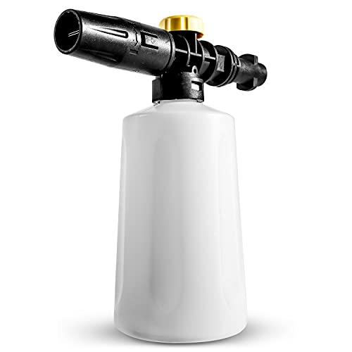 Soap Snow Foam Lance for Karcher, 750ML Foam Nozzle Cannon with Adjustable Sprayer Jet Bottle Nozzle Compatible with Karcher K2 K3 K4 K5 K6 K7 High Pressure Washer