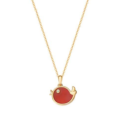 FANCIME ダイヤモンド K18ゴールド サードオニキス 赤い小鳥モチーフ コトリ 18金 ネックレス レディース ギフトラッピング済 誕生日 記念日 プレゼント ギフト(赤:サードオニキス)