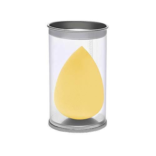 JinEamy-fr 1pcs Goutte d'eau Forme cosmétiques Puff Maquillage éponge visage Fond de teint liquide Crème Hydrophile sec humide Make Up Powder Puff avec la boîte (Color : 07 Yellow)