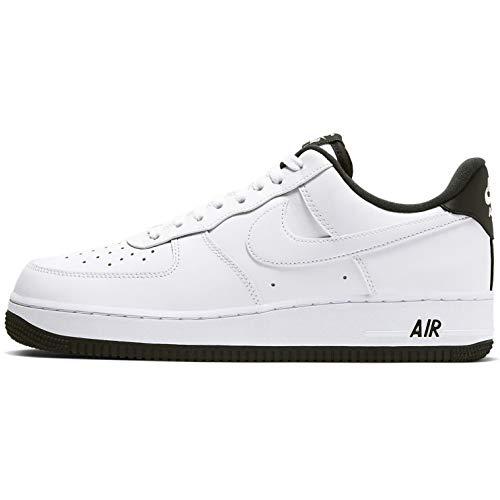 Nike Herren AIR Force 1 '07 1 Basketballschuh, White Black White, 45.5 EU