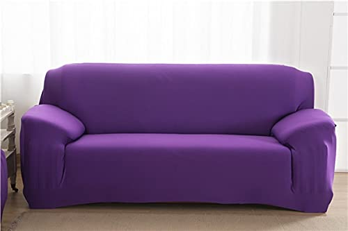 WXQY Funda de sofá elástica de Color sólido en Forma de L Funda de sofá elástica de Esquina combinación protección para Mascotas Funda de sofá Antideslizante A13 2 plazas