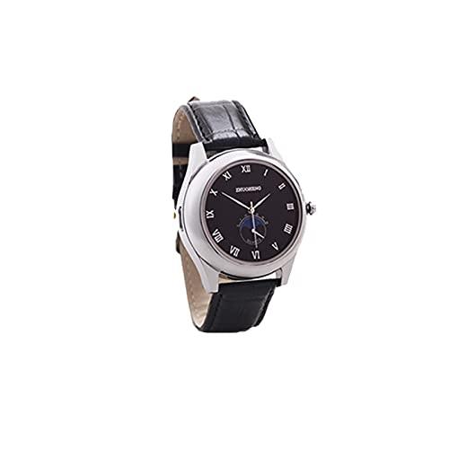 HOBEKOK Encendedor Eléctrico Reloj de Moda Dial de Alta Precisión Reloj Revestido Espejo Correa de Cuero de Silicona Recargable USB Encendedor de Cigarrillos de Tungsteno Personalizado,White
