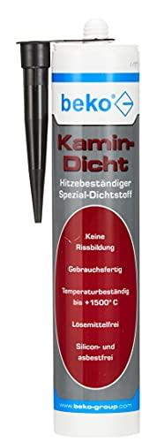 beko Kamin-Dicht 310 ml schwarz (bis +1.500° C) Hitzebeständiger Spezial-Dichtstoff 230 8 310