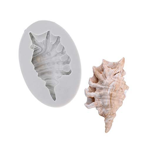 C-manualDIY Ocean Series Grote Shell Patroon Vorm Fondant Cake Siliconen Vorm Klei Druppelen Chocolade Vorm