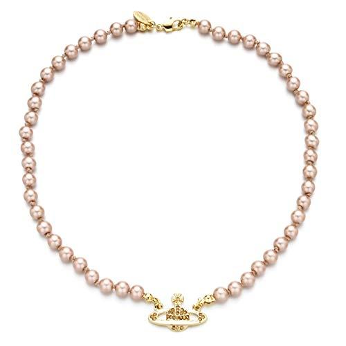 Huachaoxiang Collar con Colgante, Adornos Diamantes de imitación, Perlas de imitación, como una joyería de la Boda, Regalo,Blanco