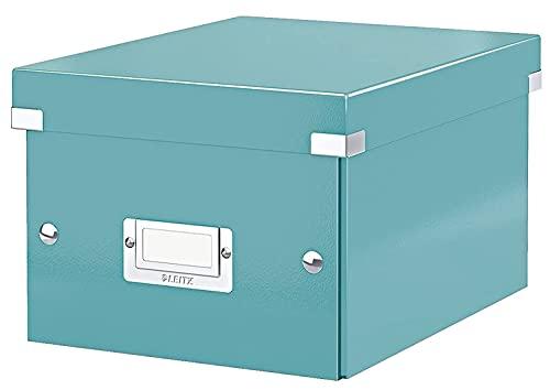 Leitz Click & Store WOW - Scatola Per Archiviazione Universale, Small, Ice Blu