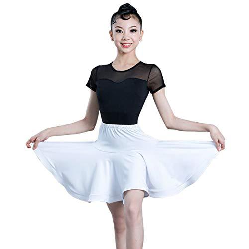 Tanzkleid Latein Mädchen Salsa Tango Rumba Tanzkostüm Kinder Tanzkleidung Tops und Röcke Sets Performance Turnierkleid/100