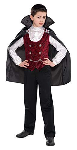 Costume Vampiro 4-6 Anni. Contiene Camicia con Gilet, Mantello Multicolore