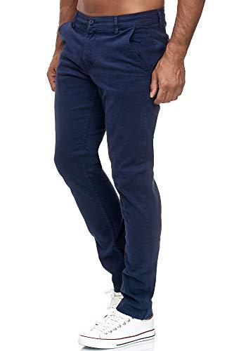 Tazzio Chino Herren Slim Fit Chinohose Designer Hose Stoffhose Herrenhose Stretch Neu 19530 Navyblau 34/32