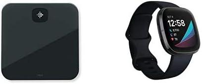 Fitbit sense negro + báscula inteligente Fitbit Aria negra