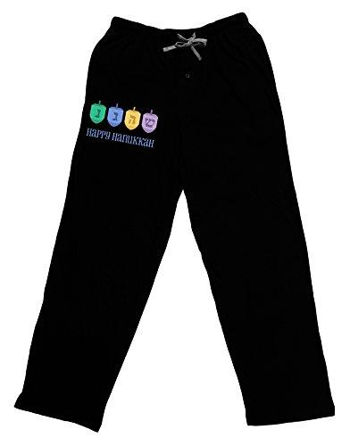 TOOLOUD Happy Hanukkah Dreidels Adult Lounge Pants - Black- 2XL