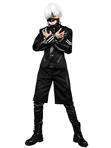 Cosfun Japan Anime Ken Kaneki Cosplay Costume Full Outfit mp002708 (XX-Large) Black