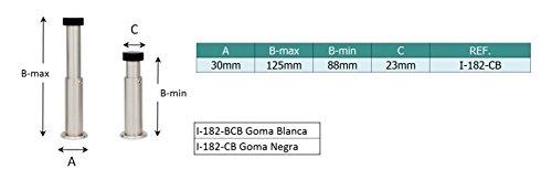 EVI-Hardware. Farbe Weiss.Pack 2 Einheiten Originalersatz f/ür verstellbaren Wandanschlag 18x12mm