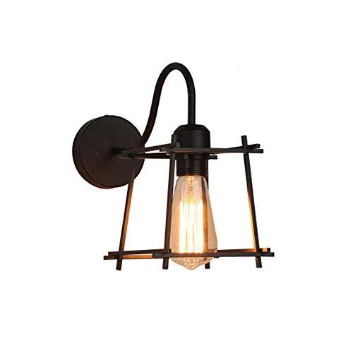 Wandlamp binnen vintage industriële retro cage wandlamp zwart wandlampen slaapkamer keuken magazijn werkplaats gang retro indoor LED