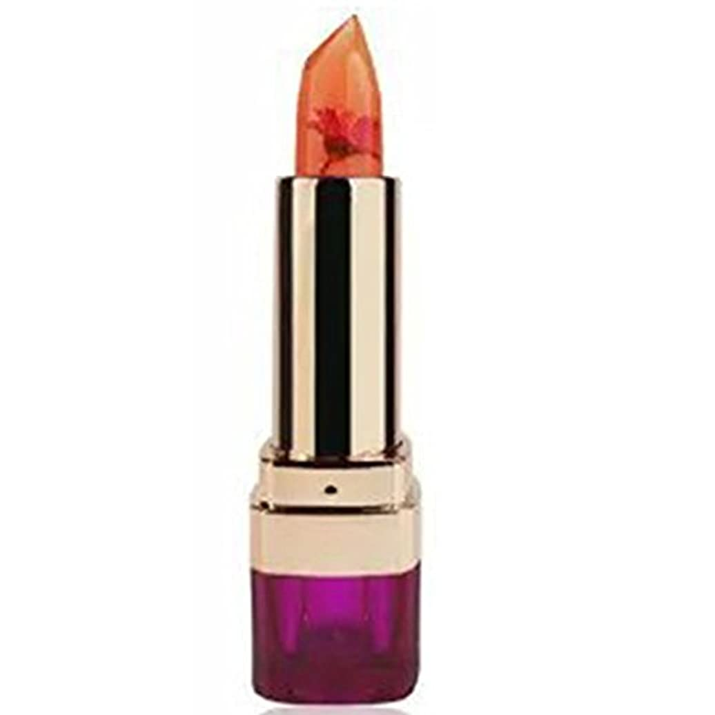 略語コンパクト暖かさCUTICATE 長続きがする唇の光沢を変える2つのXの女性ゼリーの花の口紅の温度
