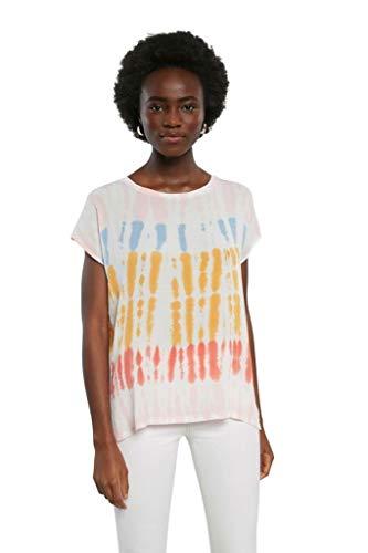 Desigual TS_Palmer Camiseta, Rojo, L para Mujer