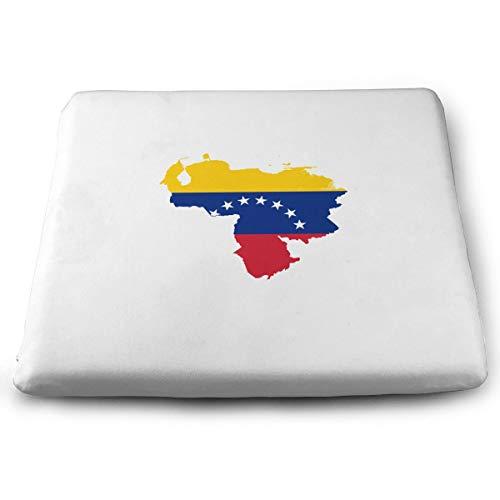 N/A Cojín de espuma viscoelástica para silla, diseño de mapa de Venezuela