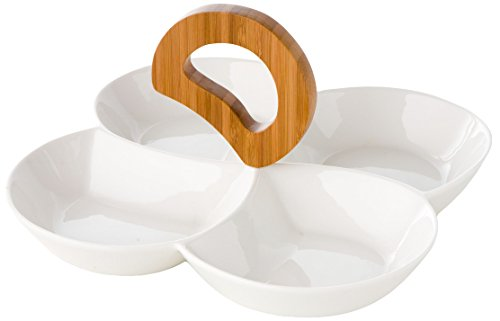 Brandani 57703 Coupelle Antipasti Rondo Porcelaine/Bambou