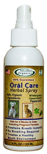 Mad About Organics All-Natural Dog & Cat Oral Care Herbal Spray