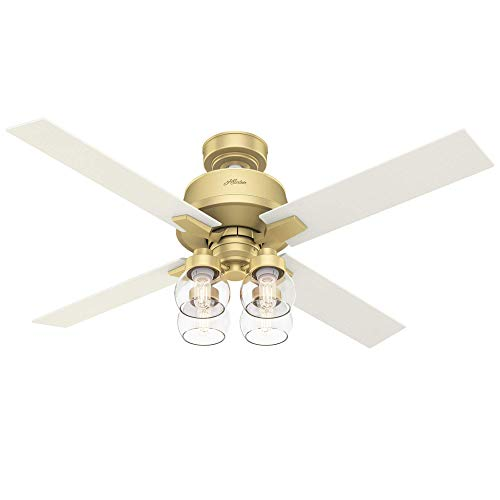 Hunter Fan Company 59651 Viven Ceiling Fan, 52, Modern Brass