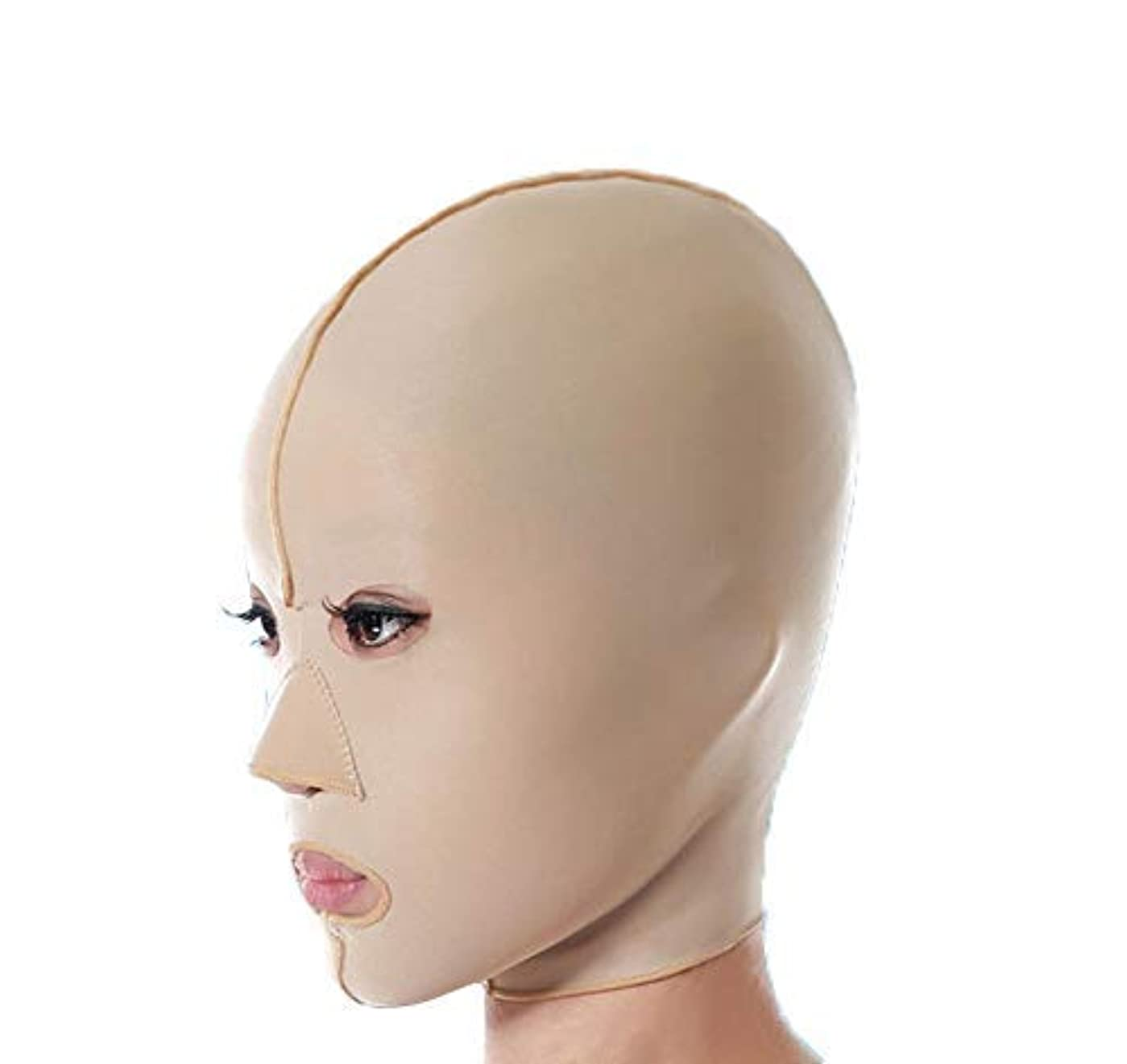 ニコチン数値コンクリートファーミングフェイスマスク、フェイシャルマスク医学強力なフェイスマスクアーティファクト美容垂れ防止法パターンフェイシャルリフティングファーミングフルフェイスマスク(サイズ:M),S