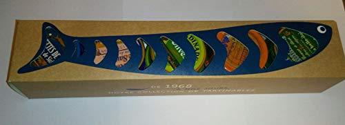 """Geschenkbox """"Nos Tartinables"""" 10 Sorten Fischpasteten aus der Bretagne in Geschenkverpackung"""