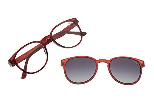 Armação Para Óculos Grau Feminino CHILLI BEANS Multi Vinho Polarizado, LVMU0020 2017, Único
