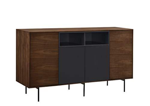 - DECORARTE - Aparadores Modernos - Kalmar Nogal/Gris (150x44)