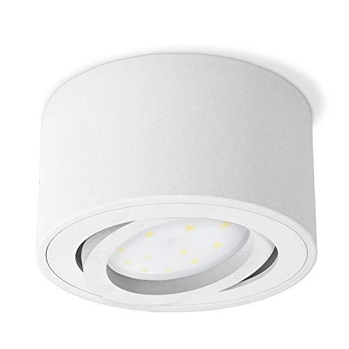 SSC-LUXon CELI-1WM kleiner Aufbau Deckenspot LED schwenkbar - mit tauschbarem LED Modul 5W warmweiß 230V - Aufputz Spot weiß
