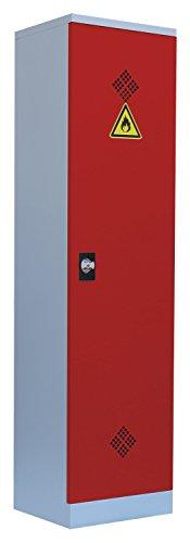 Umweltschrank Gefahrstoffschrank Pflanzenschutzschrank Chemikalienschrank Spritzmittelspind 566244 Rot 1950 x 500 x 420 mm (H x B x T)