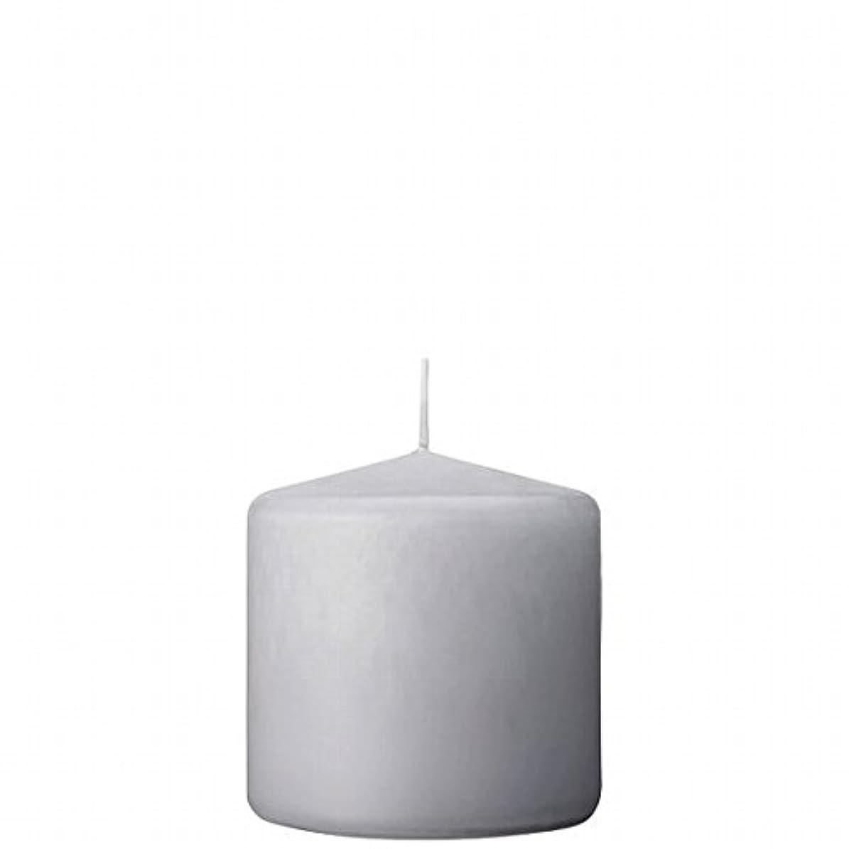 作詞家佐賀文化カメヤマキャンドル(kameyama candle) 3×3ベルトップピラーキャンドル 「 ライトグレー 」