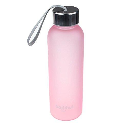 Transwen - Botella clásica, portátil, para Viajes, Deportiva, antigoteo, Zumo de Frutas, Deporte, portátil, para Viajes, 600 ml, F