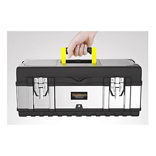 Caja de Herramientas Caja de herramientas de acero inoxidable con bandeja extraíble...