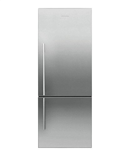 """Fisher Paykel RF135BDRX4 25"""" 13.4 cu. ft. Right Hinge Counter Depth Bottom Freezer Refrigerator With Glass Shelves ActiveSmart Technology LED Lighting and Humidity Control System in Stainless"""