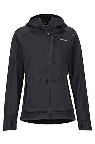 Marmot Wm's Dawn Hoody Veste Molleton, Veste Outdoor Femme, Sweat à Capuche zippé, Coupevent Femme Black FR: XS (Taille Fabricant: XS)
