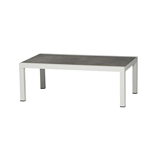 Siena Garden Belia Tisch, Weiß, 70 x 120 x 43.5 cm
