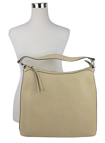 Fashion Shopping Gucci Women's Bamboo Beige Soft Leather Zip Top Handbag