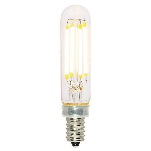 Westinghouse 5168000 - Bombilla LED (equivalente a 40 W, filamento transparente regulable, base de candelabro)