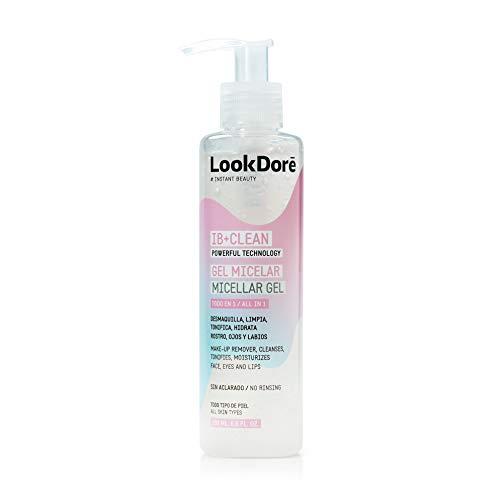 Lookdoré IB+Clean Gel Micelar Todo en 1 - Desmaquillante, Exfoliante e Hidratante - Todo tipo de piel